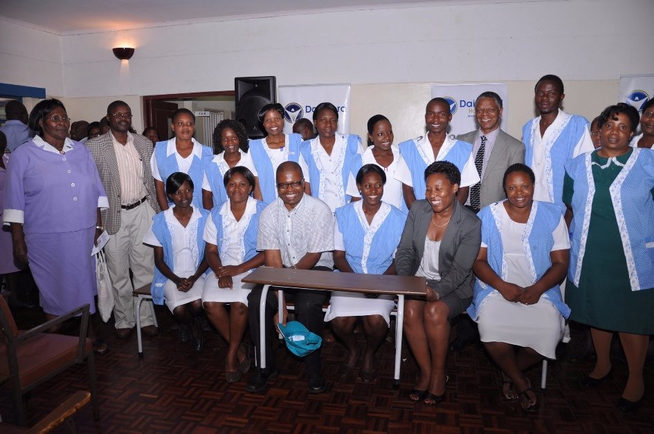 Harare Hospital Dairibord Holdings team with one type of the benches donated