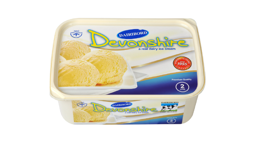 Dairibord Ice Cream 2lt Devonshire