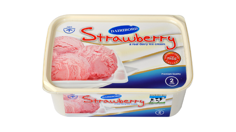 Dairibord Ice Cream 2lt Strawberry